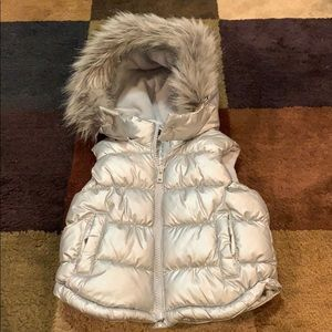 Silver old navy puffer vest